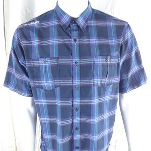 BILLABONG Design Works Men's Blue Plaid Sz Large
